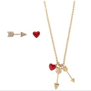 C&I Petits Bijoux Heart + Arrow Set